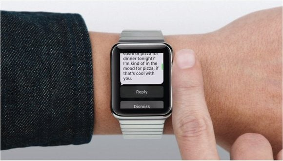 Replying to text messages on the Apple Watch