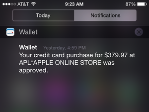 apple watch notification