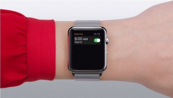 Apple Watch set alarm