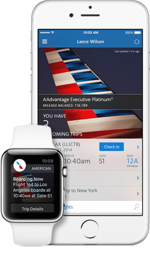 apple watch american airlines