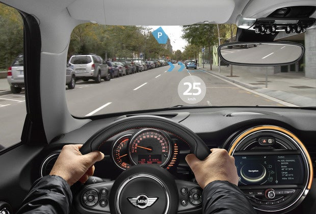 bmw mini augmented vision ar in car