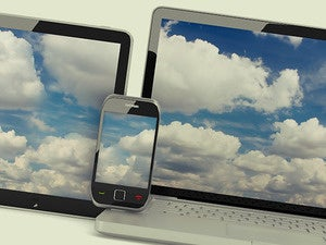 clouds laptop smartphone tablet mobile devices
