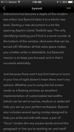 byword iphone