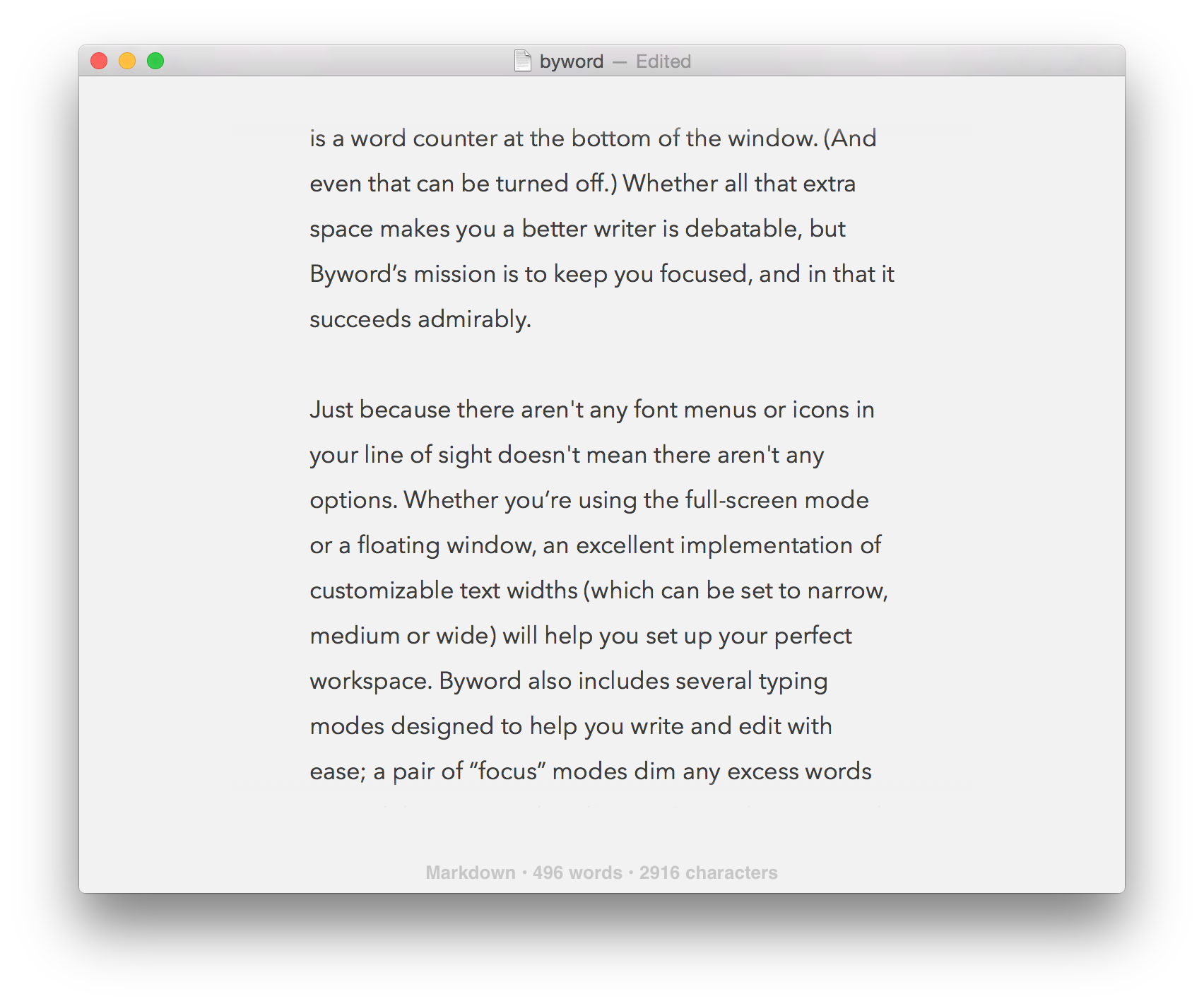 the best cross platform writing apps for mac and ios macworld byword mac