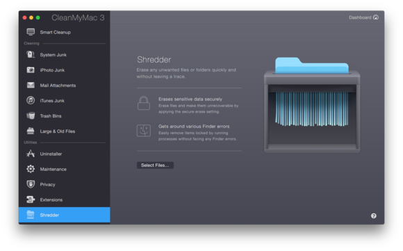cleanmymac3 shredder