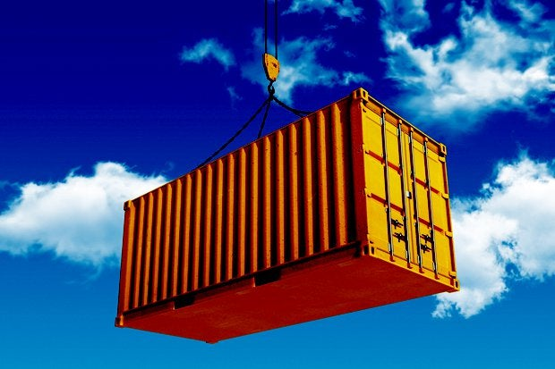 shipping container hanging air lift