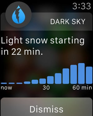 dark sky apple watch
