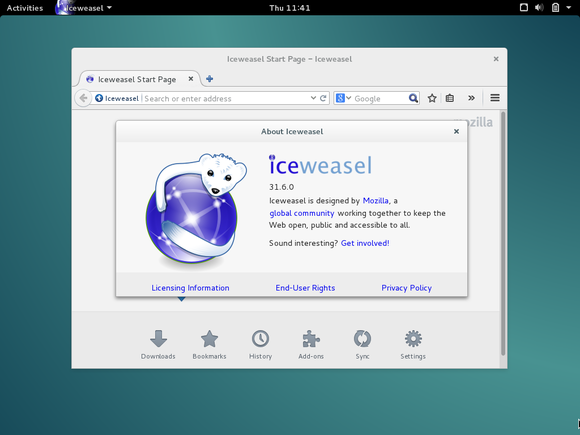 debian iceweasel browser