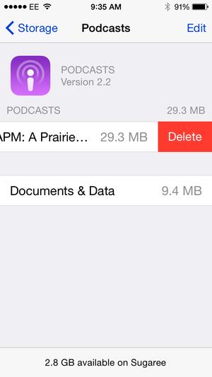 delete podcast