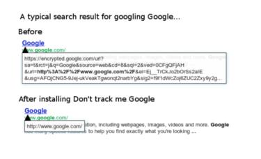 dont track me google