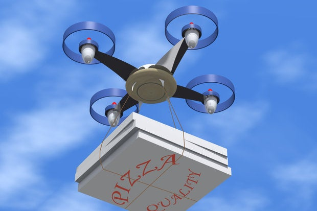 drone pizza delivery thinkstock