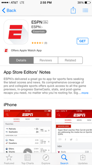 espn watch app