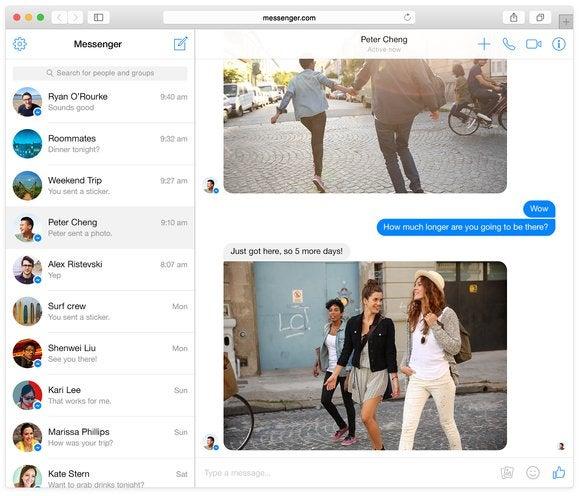 facebook messenger web app