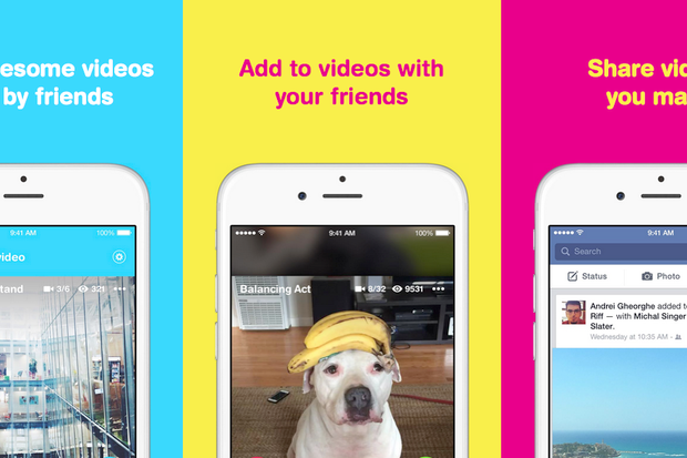 Facebook s riff app lets users create short videos that their friends