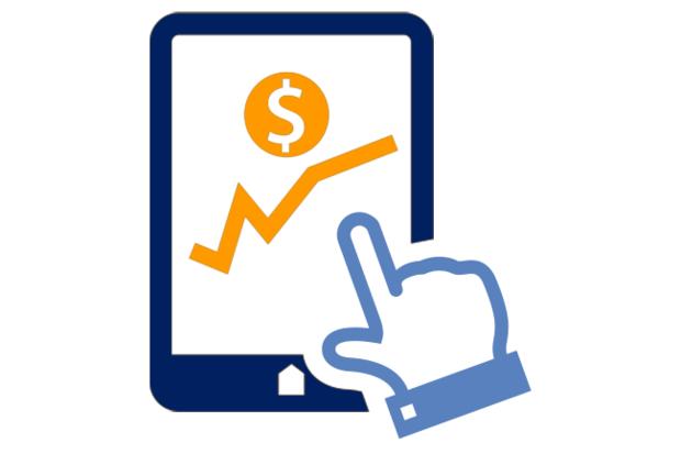 finance ipad white background