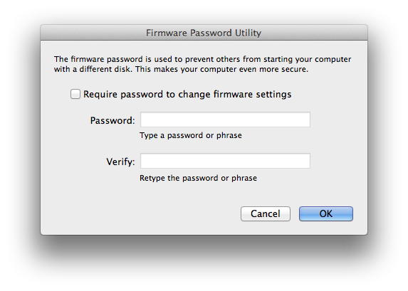 how to set user password in macbook