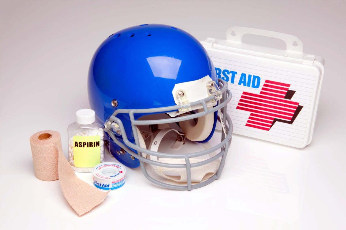 football helmet medical care first aid medicine