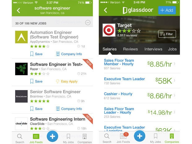 glassdoor mobile app