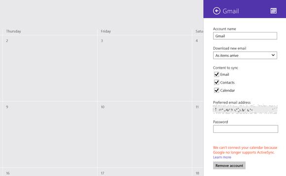 gmail no calendar app