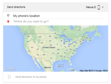 google send directions