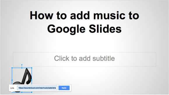 google slides music image