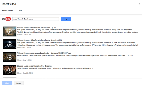 google slides youtube search