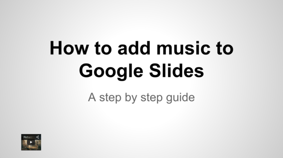 google slides youtube video