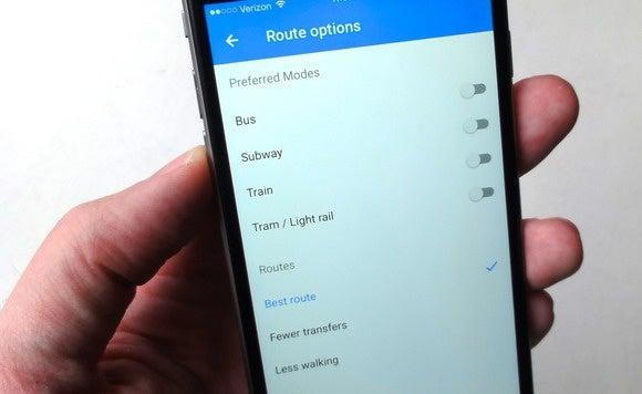 google maps app transit preference 8