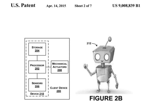 Google robot patent illustration