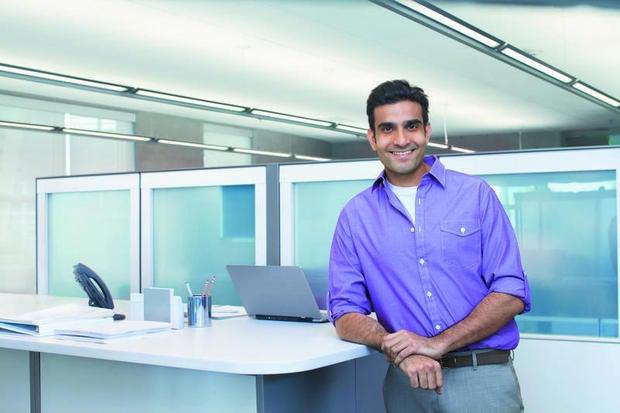 happy guy in office