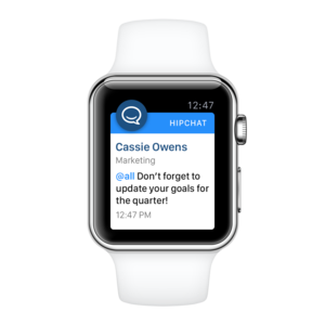 hipchat apple watch