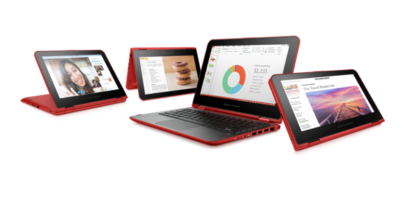 hp pavilion x360 red 4 modes