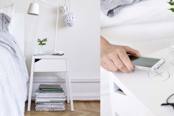 ikea wireless charging furniture
