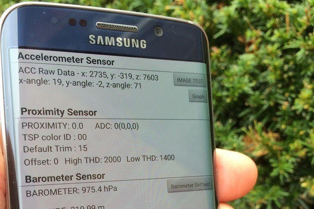 Galaxy S6 Edge onboard diagnostic test