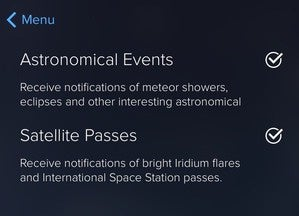 Set Sky Guide notifications.