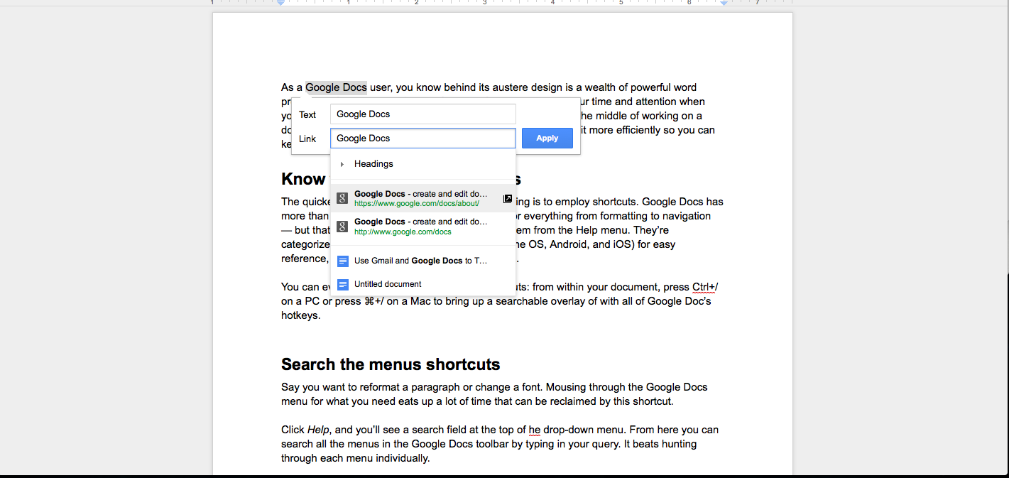 Google Docs Shortcuts For More Efficient Editing PCWorld - How do you create a google doc
