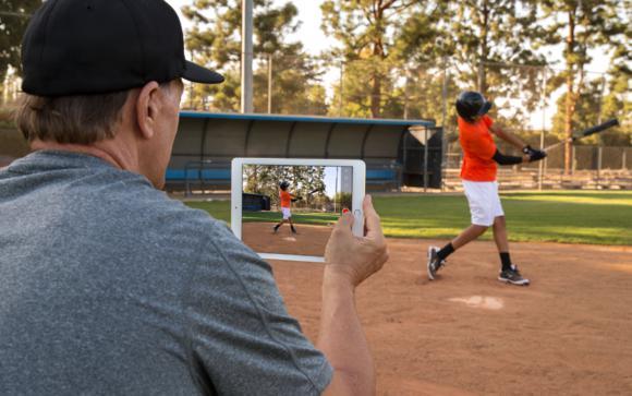 ipad and baseball  video swing analysis