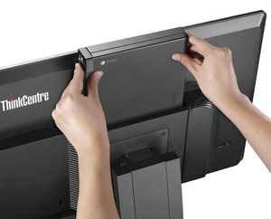 lenovo thinkcentre chromebox tiny rear slide in upper view