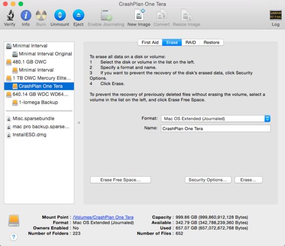 mac 911 erase tab disk utility