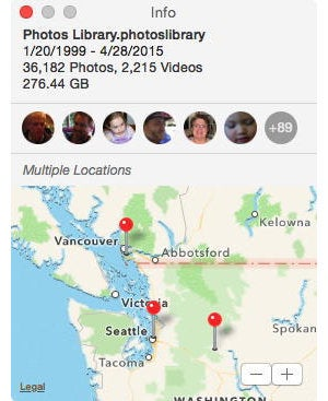 Photos: Multiple Images Location in Info Pane
