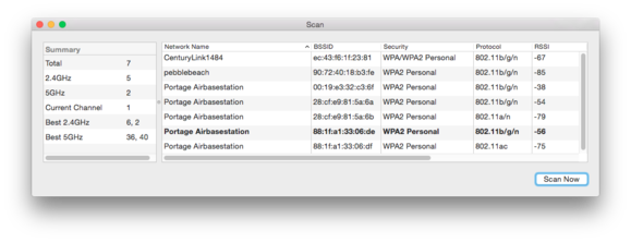 mac911 wireless diag scan