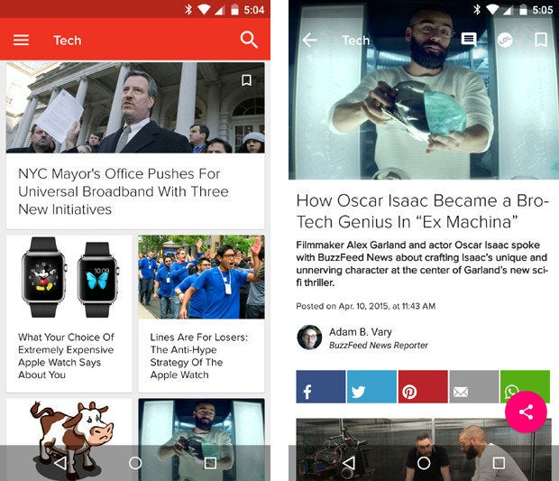 material design apps android buzzfeed