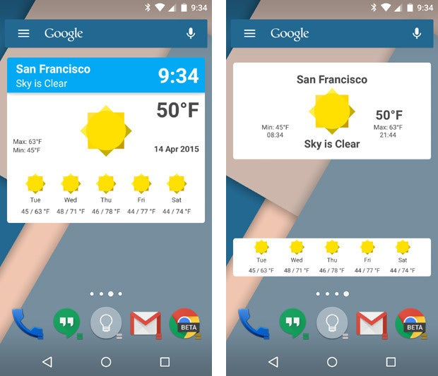 how to add weather widget to android