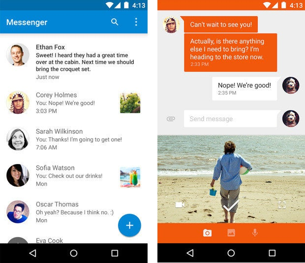 material design apps android messenger