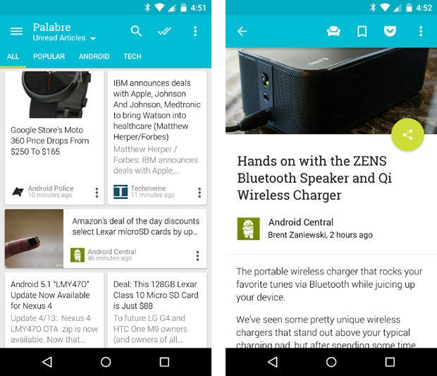 material design apps android palabre
