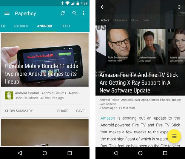 material design apps android paperboy