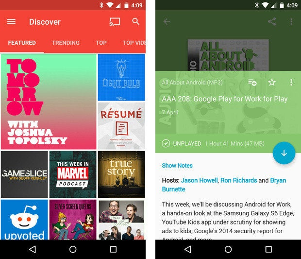 material design apps android pocketcasts