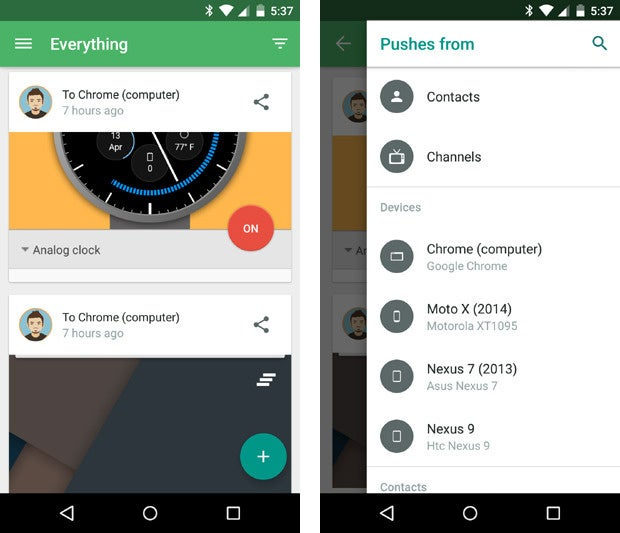 material design apps android pushbullet
