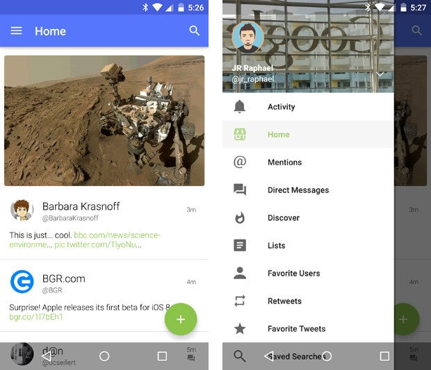 material design apps android talon