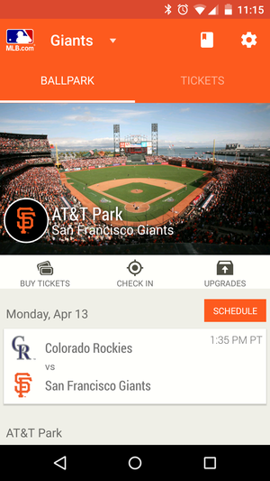 mlb at the ballpark android